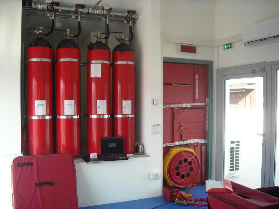 Impianti antincendio a gas inerti, impianti antincendio ad ...