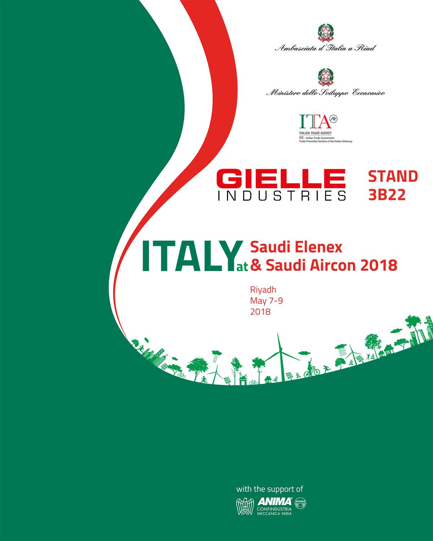 Gielle at Saudi Elenex & Aircon 2018, Saudi Arabia - Gielle Industries