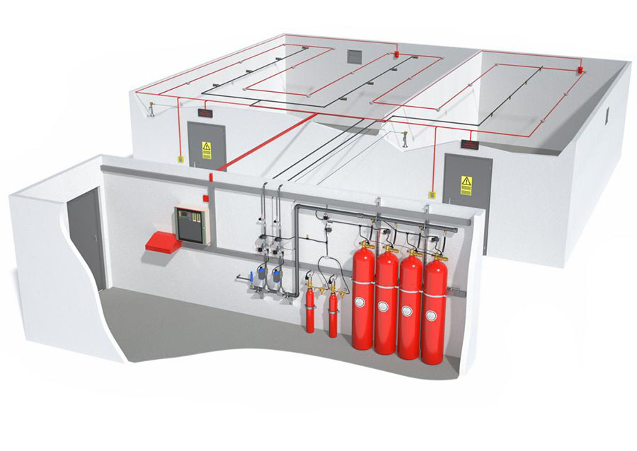 inergen fire systems, inergen fire suppression systems